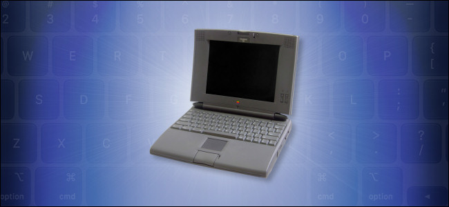An Apple PowerBook 540c computer.